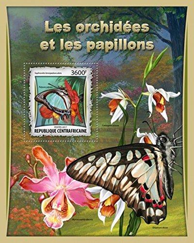 Central Africa - 2017 Orchids & Butterflies - Souvenir (Butterflies Souvenir Sheet)