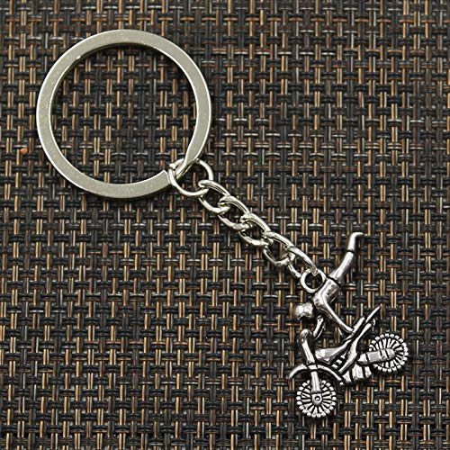 Amazon.com: Eaglers Llavero Metal 30mm Key Ring Metal Key Chain Keychain Antique Silver Plated Motorcycle Motorcross 2525mm Brnoze: Home & Kitchen