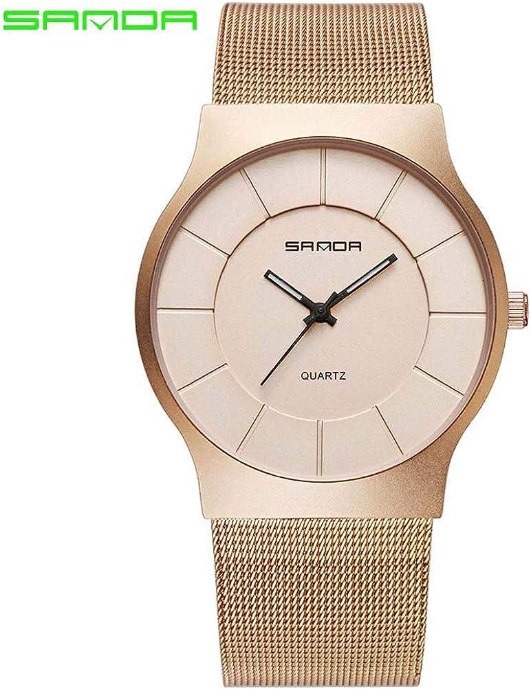 sportuhr Sanda Net con Reloj de Acero Inoxidable Correa de los Hombres de Moda Reloj de Cuarzo Reloj Resistente al Agua