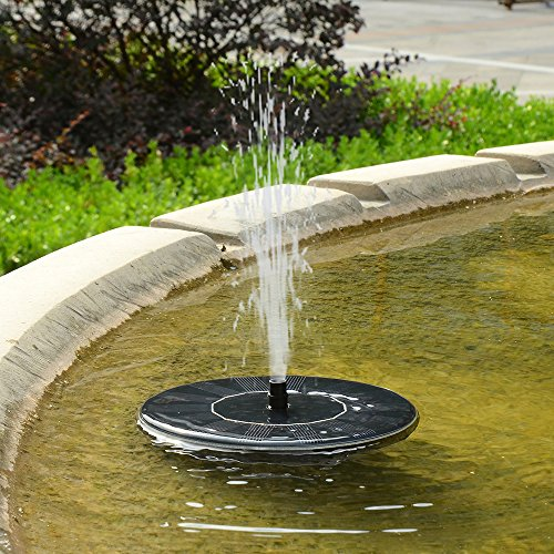 Ohuhu Solar Powered Bird Bath Fountain Pump Outdoor Water Import It All
