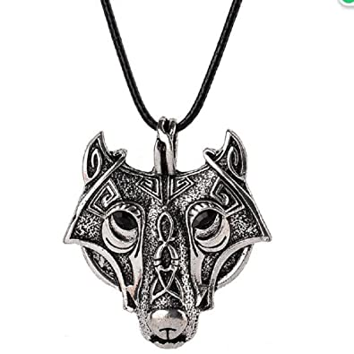 Amazon 1pcs norse vikings pendant necklace norse wolf head 1pcs norse vikings pendant necklace norse wolf head necklace original animal jewelry wolf head hange mozeypictures Choice Image