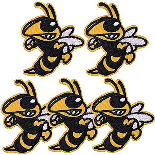 TACVEL Bee Embroidered DIY Sew on / Iron on Patches for Kids Clothing, Vest, Jackets, Backpacks, Caps, Jeans to Repair Holes / Logo