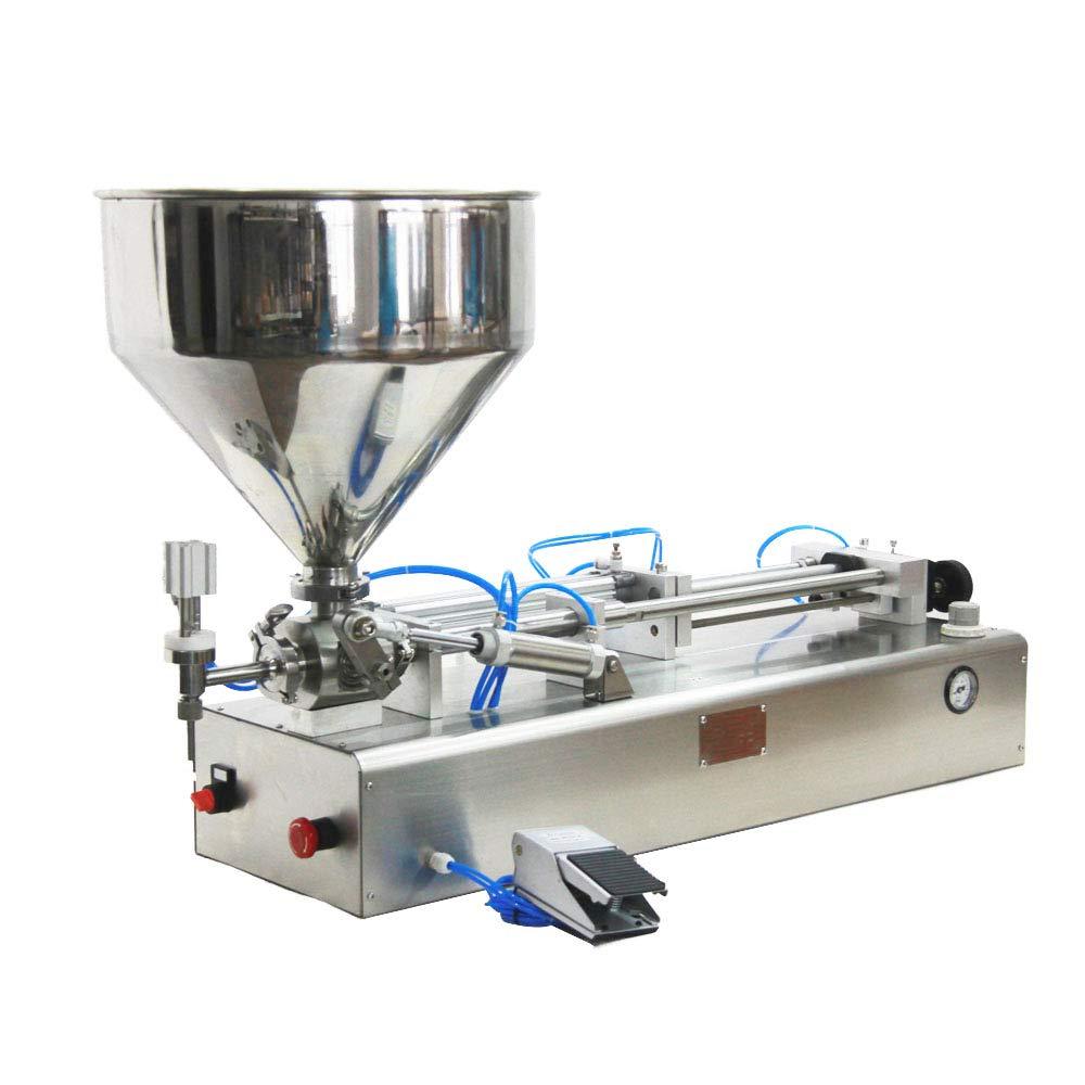 Pneumatic Filling Machine 50-500ml Semi-auto Pneumatic Liquid Filling with 40L Hopper Liquid Filling Machine for Liquid and Paste Filling (10-100ml) by Youlian (Image #3)