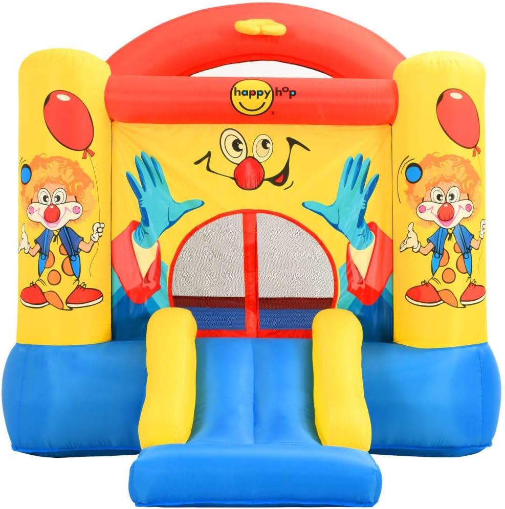 vidaXL Happy Hop Inflatable Bouncer with Slide Outdoor Garden Backyard Bouncy Castle House Kids Children Activity Centre 330x230x230cm PVC