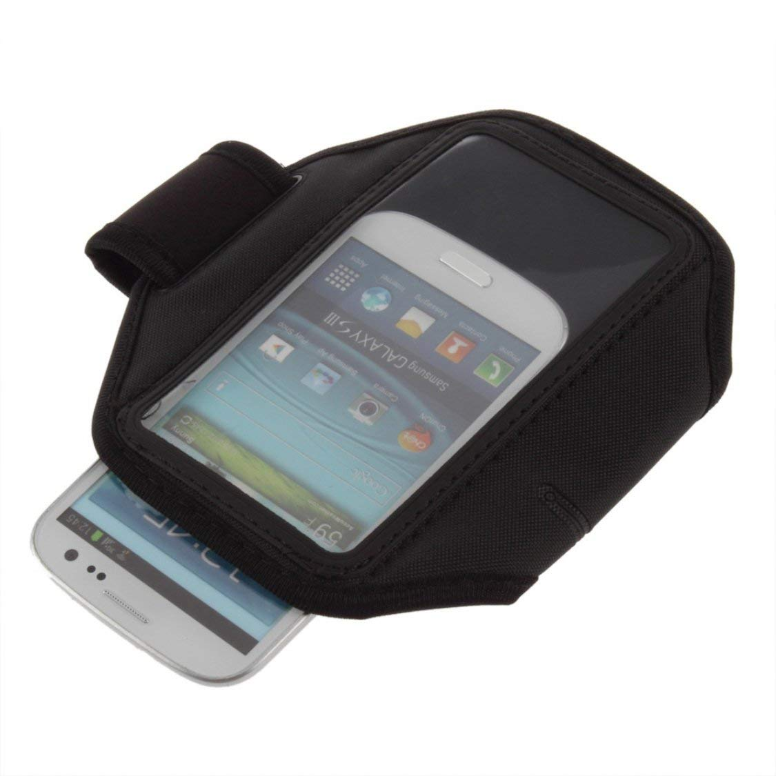 Ajustable Negro Deporte Gimnasio Correr Brazalete Cubierta de la Caja para Samsung Galaxy s3 i9300 t999 tel/éfono m/óvil cintur/ón Cubierta Caliente