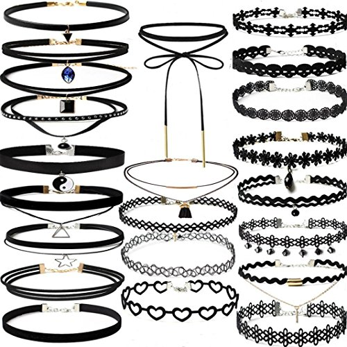 Cut Stainless Steel Bangle (WILLTOO 22Pieces Classic Lace Choker Stretch Velvet Gothic Tattoo Necklace Set)