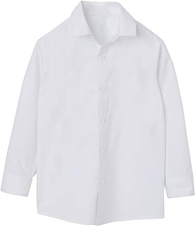 VERTBAUDET Camisa niño de Popelina Blanco Claro Liso 10A ...