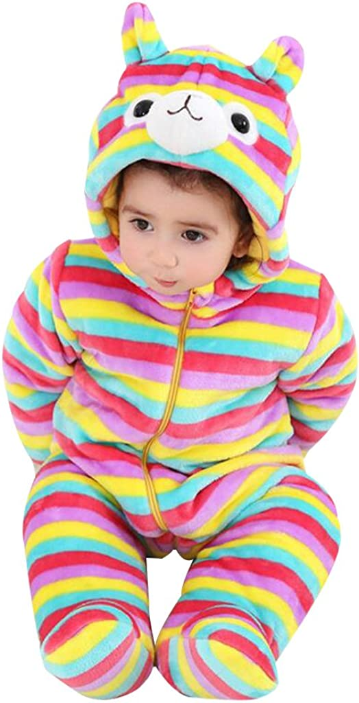 Hooded Rompers Infant Toddler Snowsuits Jumpsuit Winter Overalls for Baby Girls