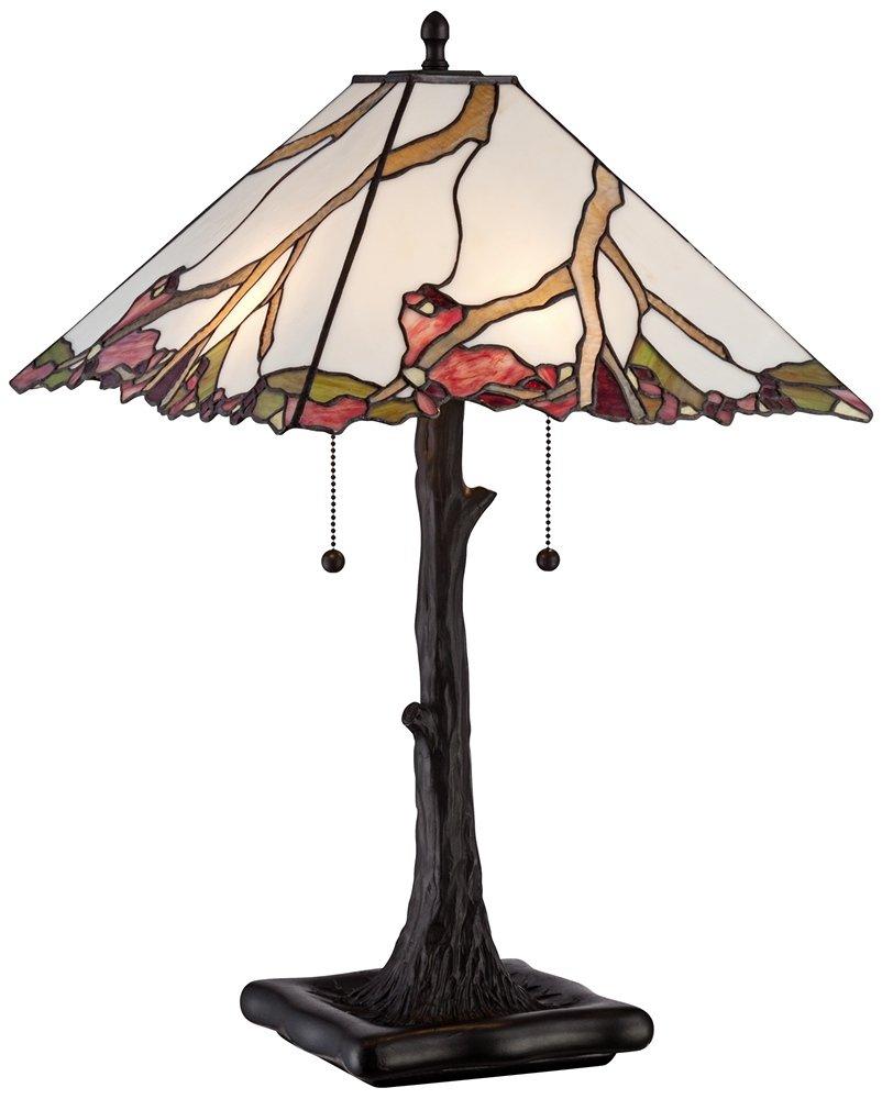 Robert louis tiffany cherry blossom art glass table lamp amazon aloadofball Images
