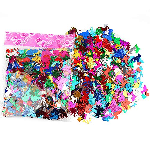 - Sequins and Spangles for Children's Handmade DIY, Creative Color Beads Sequins Greeting Card Decoration Gold Foil Iron Slices (Animal)