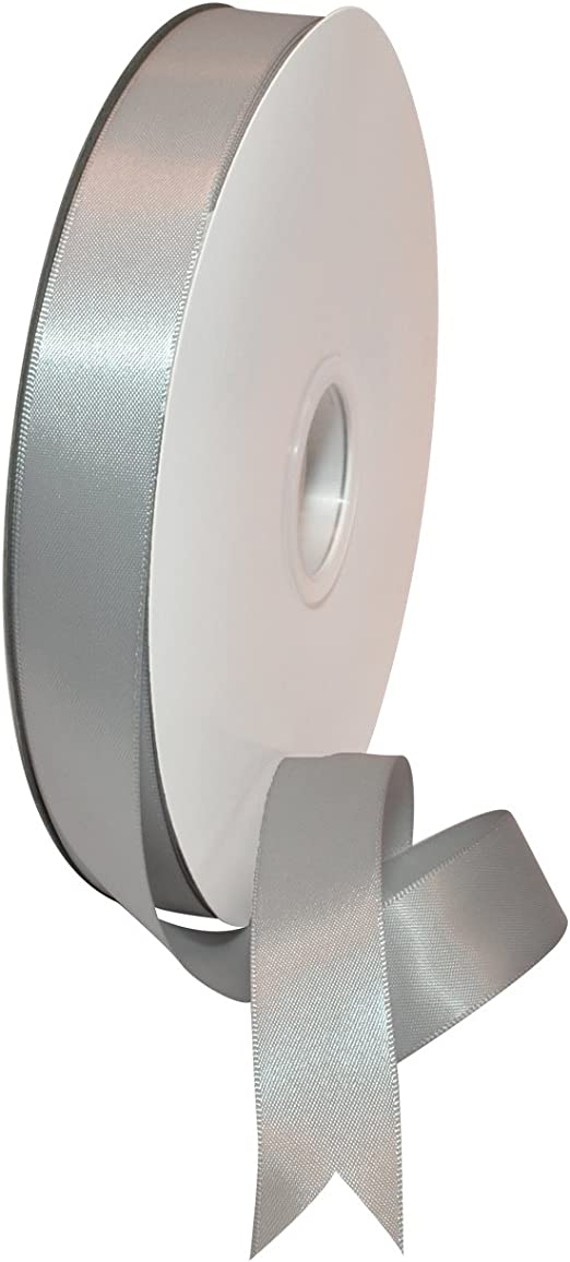 """100yds Single Face Polyester Satin Ribbon 7//8/"""" x 100yd ANY COLOR Finished Edges"""