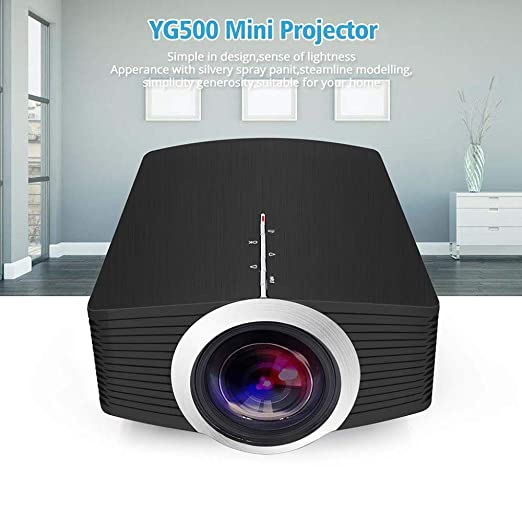 KAIDILA Proyector, YG500 yg500a Mini proyector 1080P 1800 lúmenes ...