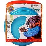 Petspal Dog Super Flyer Rubber Flying Disc, Large (Blue)