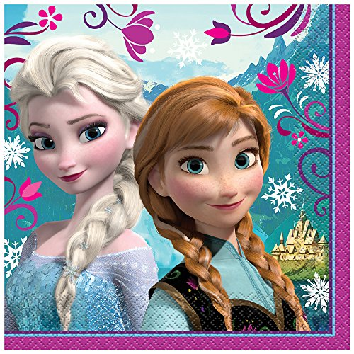 Unique Disney Frozen Party Napkins, 16ct (Pacific Luncheon Napkins)