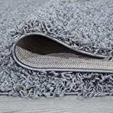 """Ottomanson Collection Solid Shag Rug, 5'3"""" x 7', Gray"""