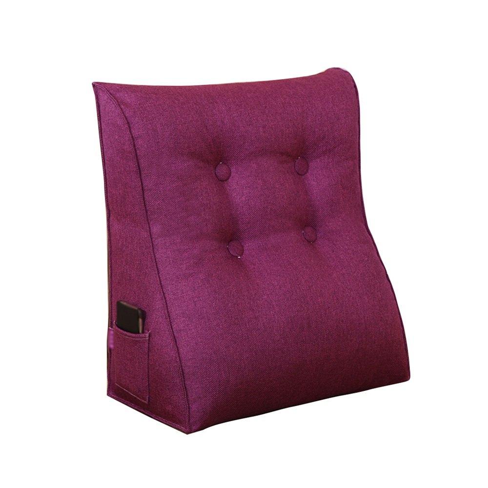 Bed fashion cushion / multi-purpose pillow / Large backrest / lumbar backrest / cotton triangle cushion / sofa cushion ( Color : D , Size : 556025cm )