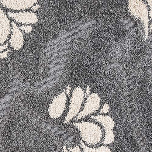 Safavieh Florida Shag Collection SG459-8013 Floral Textured 1.18-inch Thick Area Rug