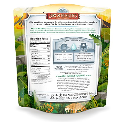 Paleo Pancake and Waffle Mix by Birch Benders, Low-Carb, High Protein, High Fiber, Gluten-free, Low Glycemic, Prebiotic, Keto-Friendly, Made with Cassava, Coconut and Almond Flour, 42 Ounce 1-pack by Birch Benders (Image #3)
