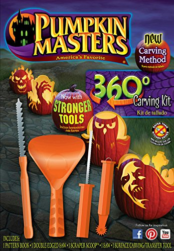 Pumpkin Masters 360 Degree Carving Kit Halloween New Method Stronger Tools -