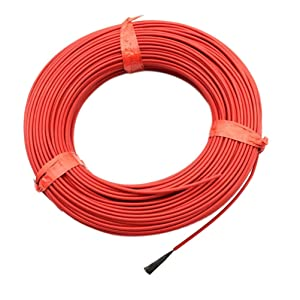 1Roll 20M 12K 33Ohm Infrared Heating Floor Heating Cable System 3.0mm PTFE Carbon Fiber Wire Electric Hotline Thickening