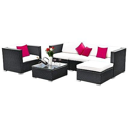 Amazon.com: Tangkula juego de 6 muebles para exteriores. Con ...