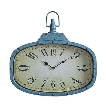 Amazon.de: ZLR Mode Wanduhr Retro Uhren Metall Wanduhren ...