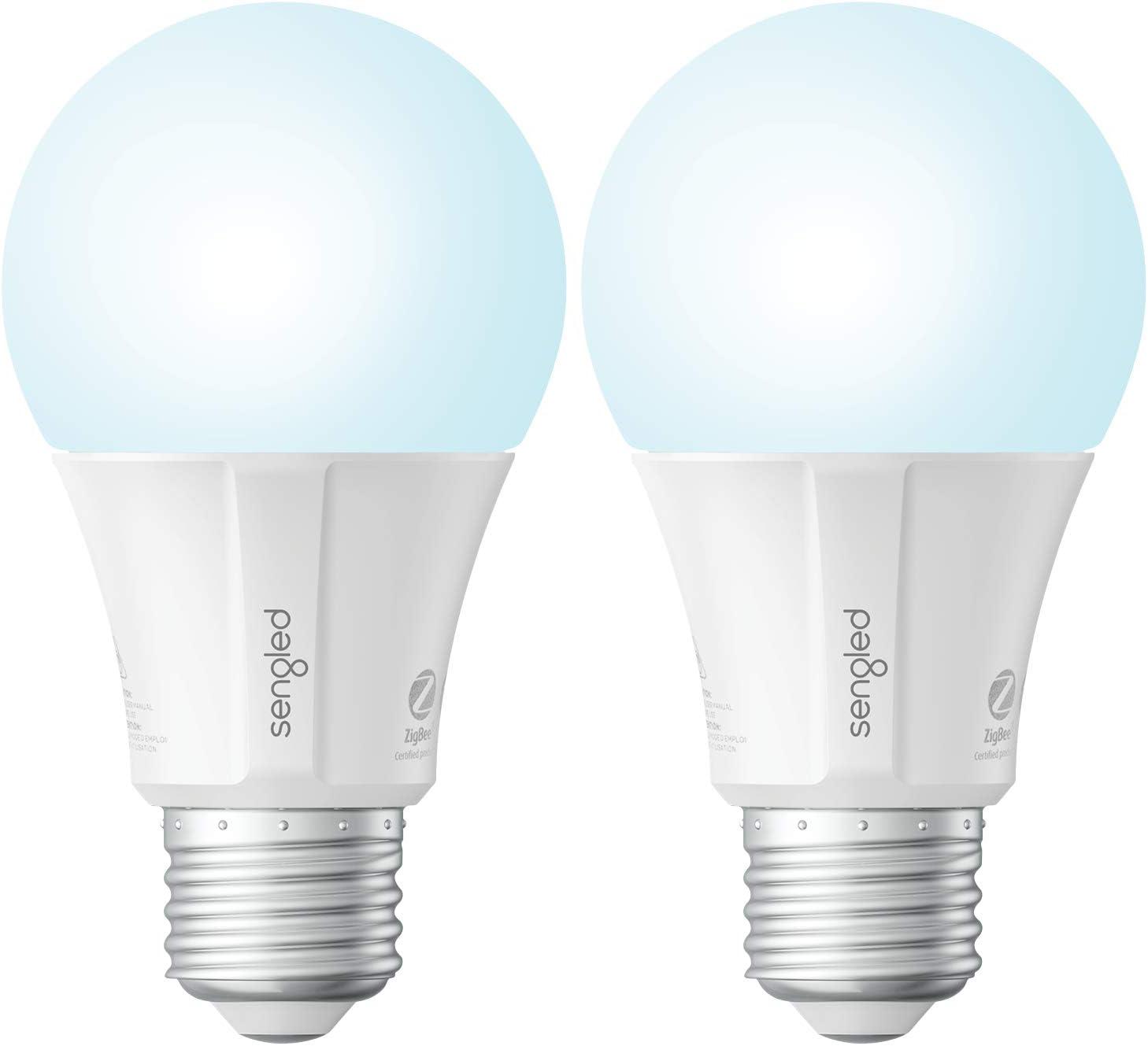 Sengled Smart Light Bulb, Smart Bulbs That Work with Alexa, Google Home (Smart Hub Required), Smart Bulb A19 Alexa Light Bulbs, Smart LED Daylight (5000K), 800LM, 9W (60w Equivalent), 2 Pack