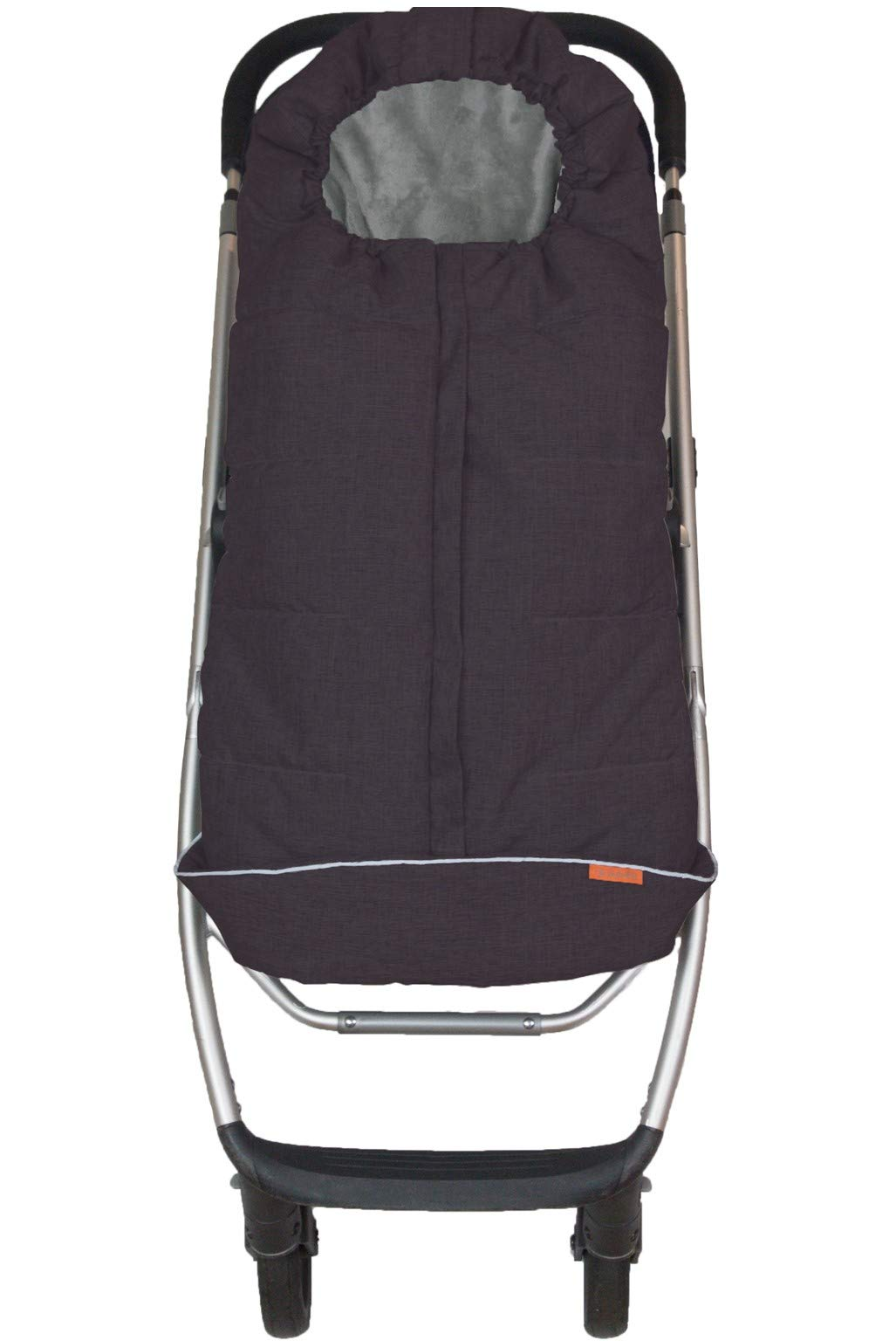 liuliuby CozyMuff Toddler Size – Weatherproof Footmuff with Temperature Control – Universal Fit for Strollers (Black Mélange)