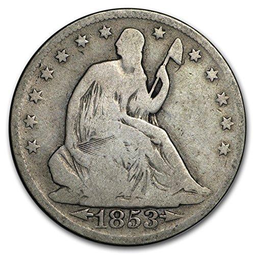 (1853 Liberty Seated Half Dollar w/Arrows & Rays Good Half Dollar Good )