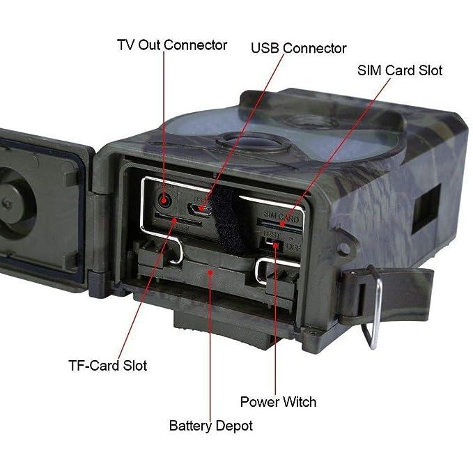 Four Vida Silvestre cámara Trampa 2,0 Pulgadas Caza Salvaje Leva Movimiento infrarrojo Activado 12 Millones HD visión Nocturna Impermeable para Campo al ...