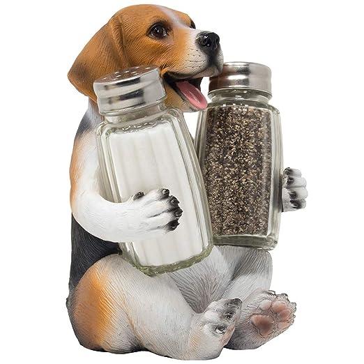 Beagle - Juego de salero y pimentero para perro, con soporte ...