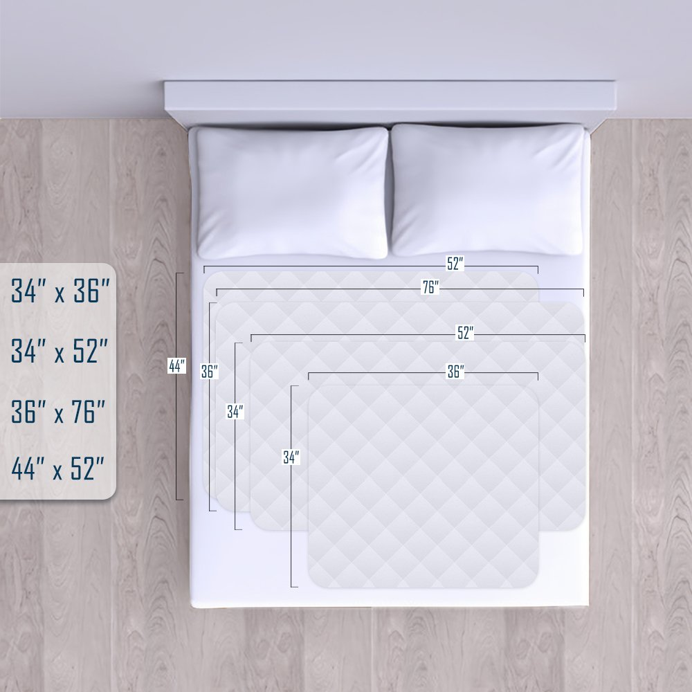Reusable Commercial Quality Ultra Waterproof Sheet and Mattress Pad Protector, All Sizes, 10 Cups Absorbency, Made in America. (34x76) by Royal Heritage Home (Image #3)
