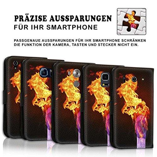 Wallet Book Style Flip Handy Tasche Case Schutz Hülle Schale Motiv Etui für Apple iPhone 6 Plus / 6S Plus - Design Flip MV227