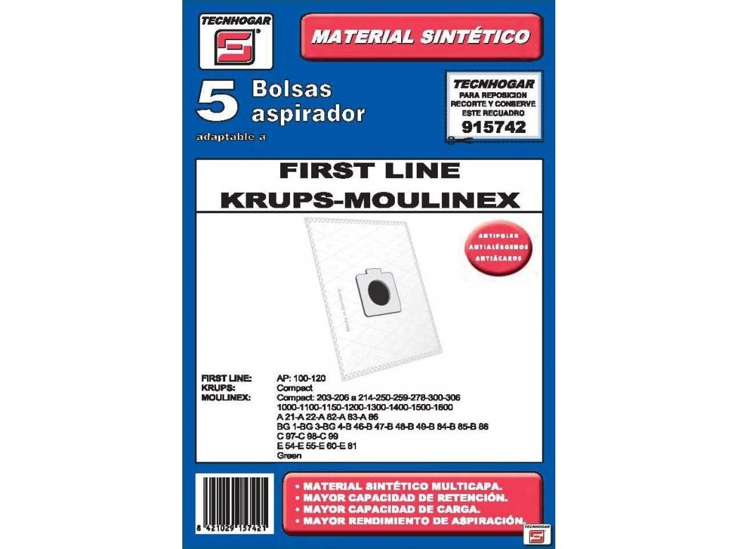 Amazon.com: Ersa - Box 5 Moulinex vacuum cleaner bags ...