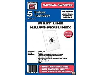 Amazon.com: Ersa - Caja 5 Moulinex Aspirador Bolsas: Kitchen ...
