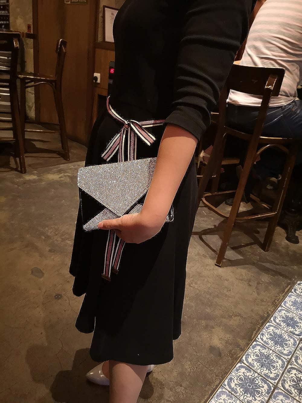 iwish Womens Glitter Full Rhinestone Envelope Clutch Purse Bag for Party Prom Wedding Evening Handbag