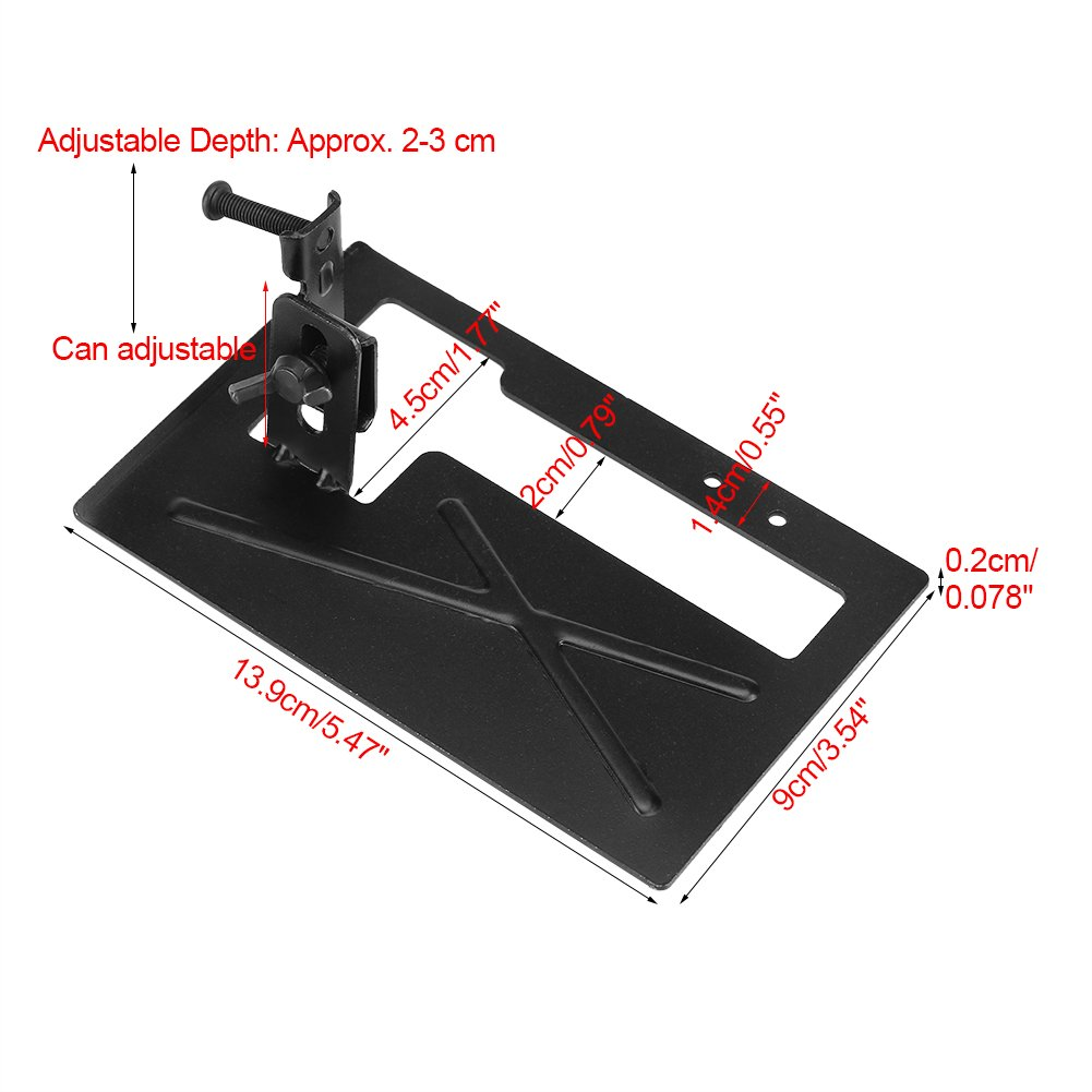 Adjustable Thickened Steel Plate Angle Grinder Bracket Stand Holder Cutting Machine Conversion Tool with Support Base