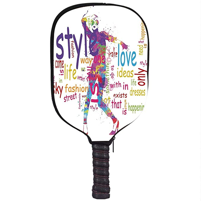 Amazon.com : iPrint Neoprene Pickleball Paddle Racket Cover ...