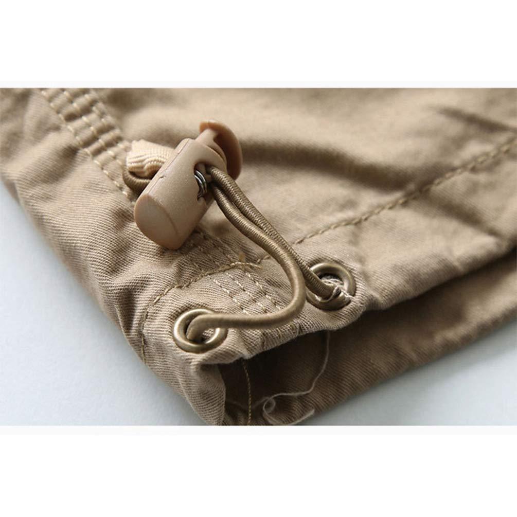 Ketamyy Hombres Verano Estampaci/ón Pantalones Cortos Multi-Bolsillo Suelto Recortada Pantalones Casual Grande Cintura Bermudas 3 Cuartos Pantalones Cortos