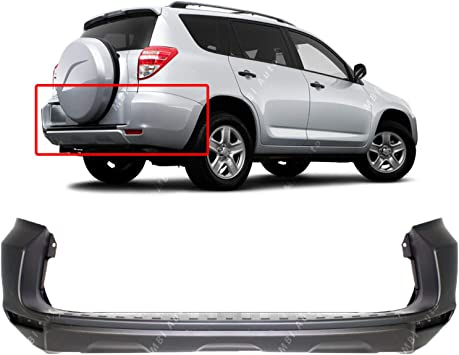 Fits Toyota RAV4 09-12 Rear Bumper Cover w//o Flare Painted To Match TO1100270