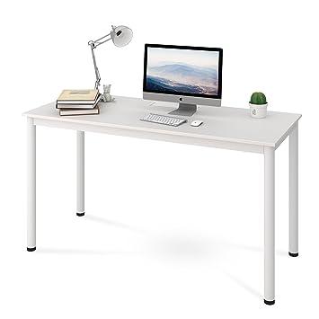 computer desk office works. DEVAISE Simple Office Work Table \u0026 Computer Desk Conference Reception Desk, White Works