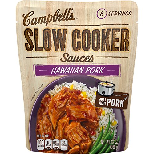 Campbell's Slow Cooker Sauces Hawaiian Pork, 13 oz. Pouch