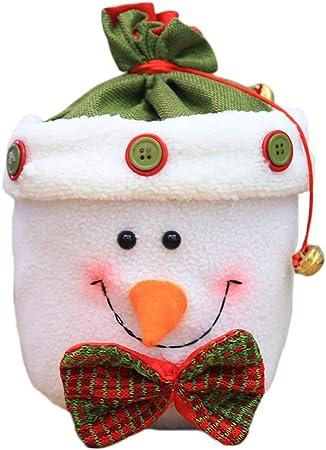 Hosaire Sacs /à bonbons No/ël Sac en Cadeau de Bonbons Biscuit Chocolat Cadeau pour Enfant Bottes de No/ël Sac D/écoration de F/ête No/ël Accrocher Sur le Sapin ou Mettre Dedans en Attendant Minuit