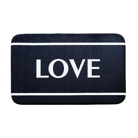 Fesjoy Alfombra para Puerta de Entrada Love Imprimiendo ...