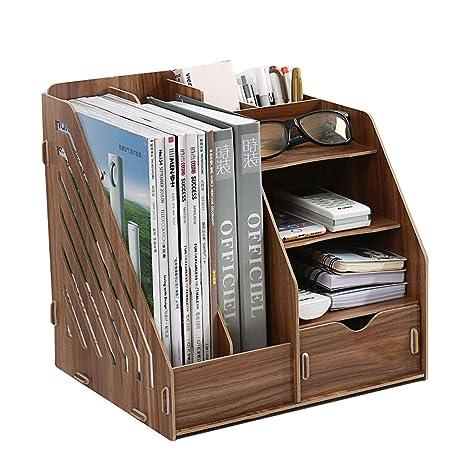 Kaiyu Estante para Archivos de estantería Caja de Soporte de Libros de múltiples Capas Creativa Artículos