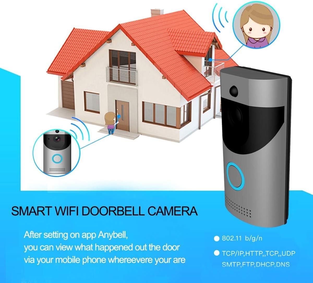 Timbre de puerta inteligente e inalámbrico, cámara de vigilancia ...