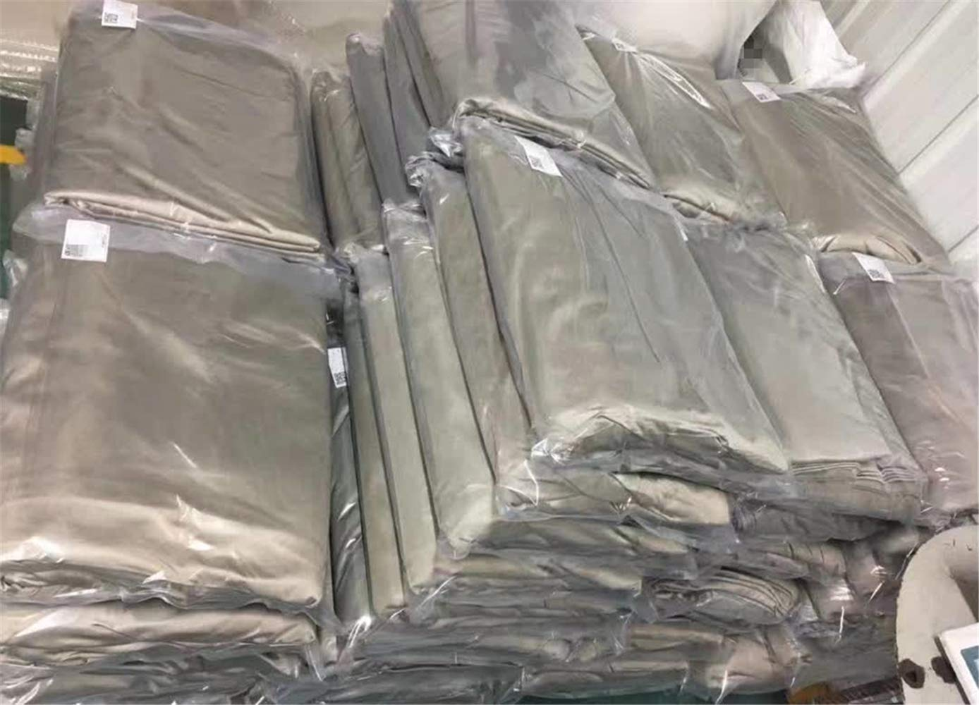 100% Silver Fiber Fabric Radiation EMF Protection Material Silver Conductive Fabric for Shielding Cage Sold by 80''x59'' inch by Amradield (Image #4)