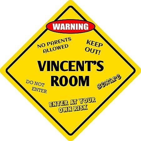 qidushop Cartel de Metal para Pared de Vincents Room Kids ...