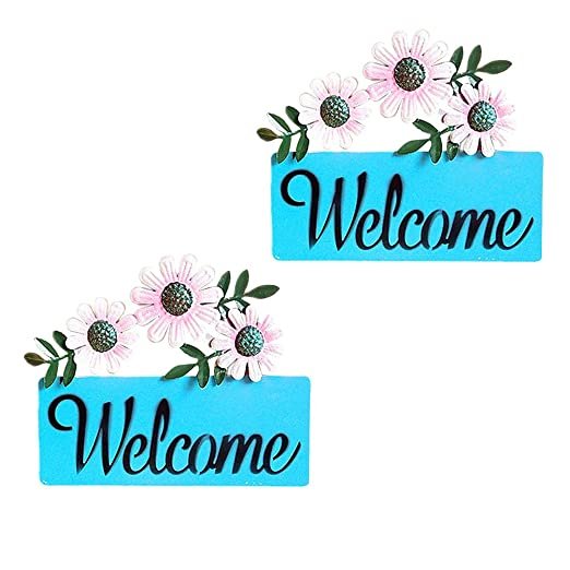 VOSAREA - Cartel Decorativo de Bienvenida (2 Unidades, para ...
