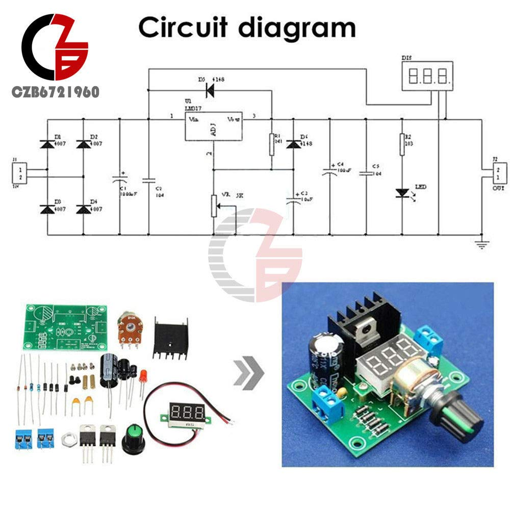 Lm317 Step Down Buck Power Supply Module Speed Control The Schematic For Max V12 Pcb Is Based On Adjust Regulator Kit Led Home Audio Theater